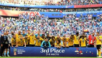 تتويج بلجيكا بالميدالية البرونزية في كأس العالم