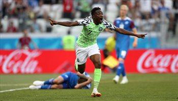 عيش المونديال  بهدفه في أيسلندا.. أحمد موسى هداف نيجيريا في كأس العالم