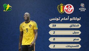 عيش المونديال| بالأرقام.. لوكاكو المرعب يتألق أمام تونس