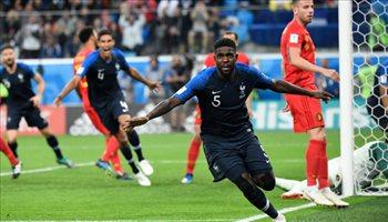 عيش المونديال| أومتيتي يكشف سبب احتفاله أمام بلجيكا وكيف يستعد للنهائي