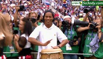 رونالدينهو يظهر في حفل نهائي كأس العالم