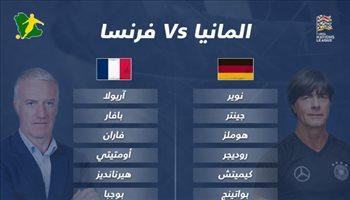 دوري الأمم الأوروبية  تغيير وحيد في تشكيل أبطال العالم أمام ألمانيا
