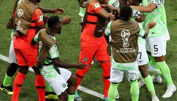 عيش المونديال  نيجيريا تعيد أمال الأرجنتين في التأهل بثنائية أحمد موسى في أيسلندا