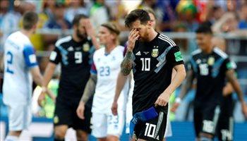 عيش المونديال  ميسي: أنا المسئول عن التعادل أمام آيسلندا