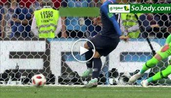 الهدف الثاني لفرنسا في مرمى كرواتيا .. عصام الشوالي نهائي كاس العالم