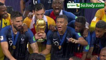 ملخص مباراة .. فرنسا 4 - 2 كرواتيا  و تتويج فرنسا بكاس العالم .. عصام الشوالي نهائي كاس العالم