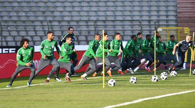 اختتام تدريبات منتخب السعودية لمواجهة بلجيكا