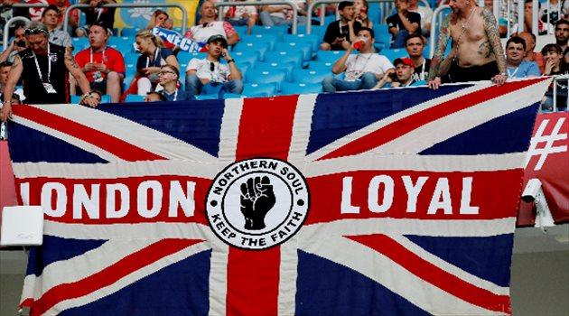 الجماهير الإنجليزية قبل بداية المباراة