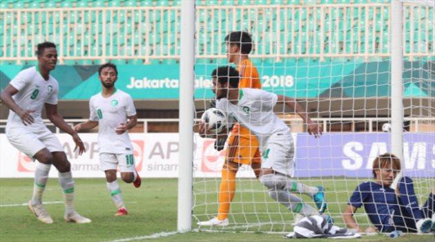 عبدالله اليوسف يحرز هدف السعودية أمام اليابان