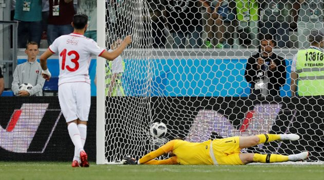 فرجاني ساسي يسجل الهدف الأول لمنتخب تونس من ضربة جزاء