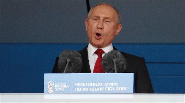 كلمة بوتين في حفل افتتاح كأس العالم