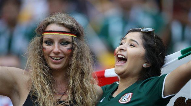 جماهير المكسيك وألمانيا