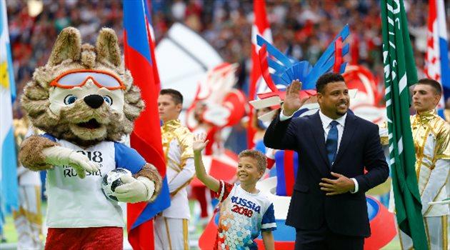 رونالدو في حفل افتتاح كأس العالم