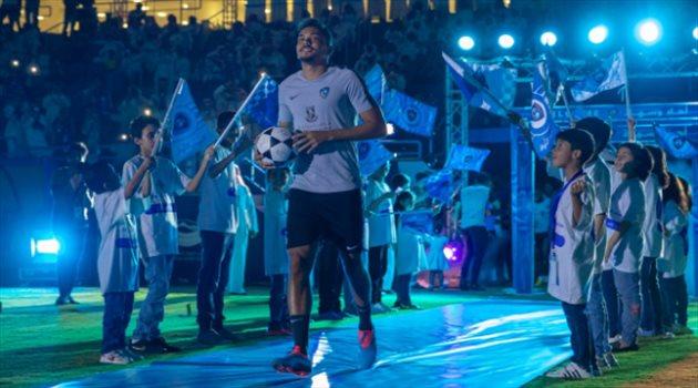 إدواردو خلال حفل تقديم لاعبي الهلال أمام الجماهير