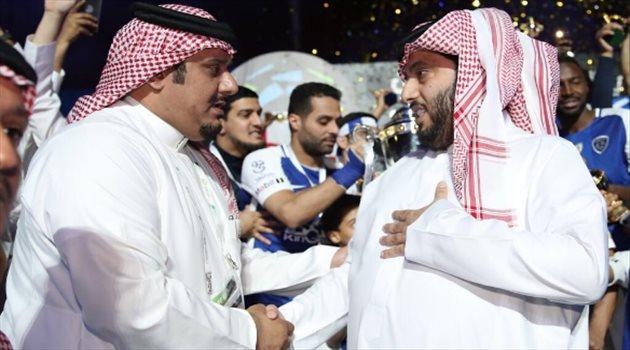 احتفالات الهلال بدوري المحترفين الـ15
