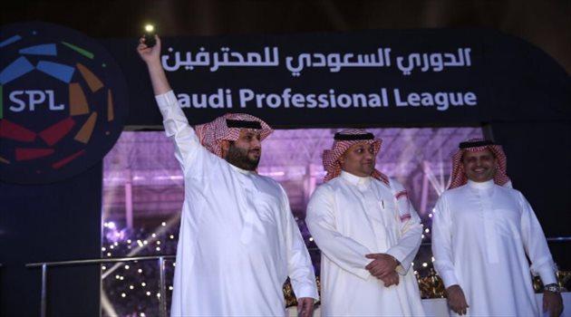 احتفالات الهلال بدوري المحترفين الـ15 تركي آل الشيخ