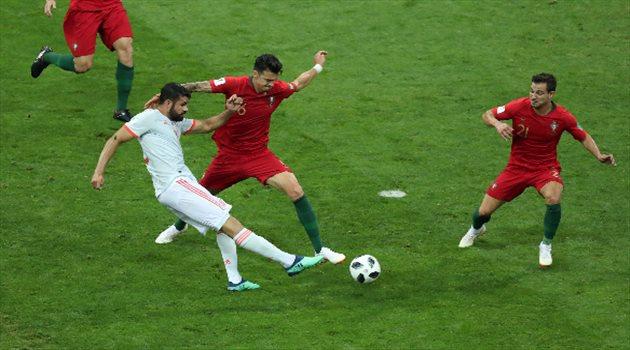 دييجو كوستا يسجل هدفًا من أول لمسة في مباراة البرتغال وإسبانيا