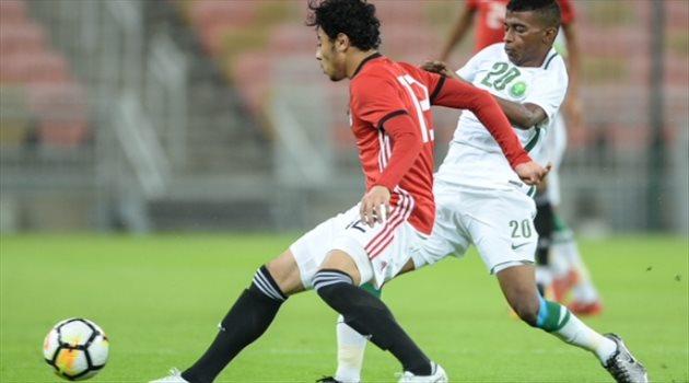 منتخب السعودية الأولمبي في مواجهة مصر