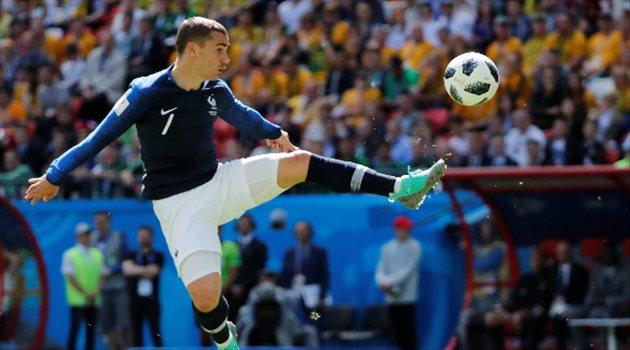 أنطوان جريزمان يسجل أول أهدافه مع فرنسا بكأس العالم