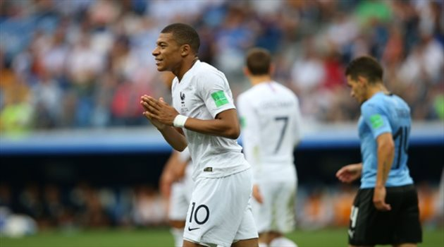 مبابي مباراة أوروجواي وفرنسا