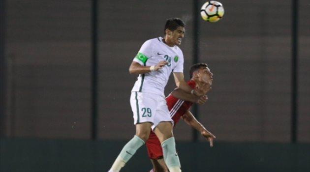 منتخب السعودي للشباب في مباراة أرمينيا الودية
