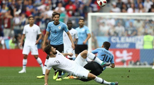جيرو مباراة أوروجواي وفرنسا