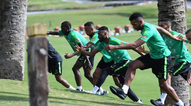 الأخضر يخوض تدريباته على ملعب الجولف بمدينة ماريبا الرياضية