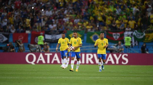 حزن نيمار بعد الهدف الثاني لبلجيكا