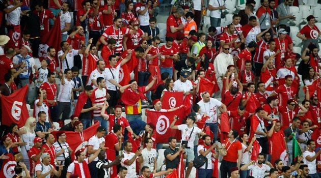 الجماهير التونسية في ملعب المباراة