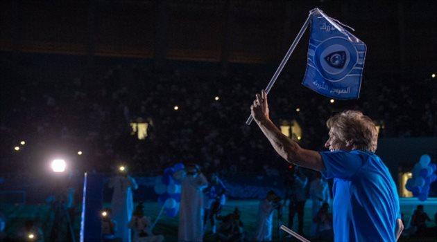 خيسوس خلال حفل تقديم لاعبي الهلال أمام الجماهير