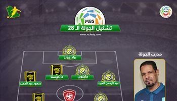 تشكيل الجولة 28.. السومة وحمد الله يقودان الفريق المثالي بقيادة العنبر