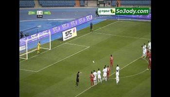 هدف غينيا الاستوائية الاول في مرمي المنتخب السعودي .. مباراة ودية