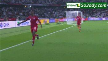 الهدف الاول لقطر في مرمى السعودية .. كأس اسيا
