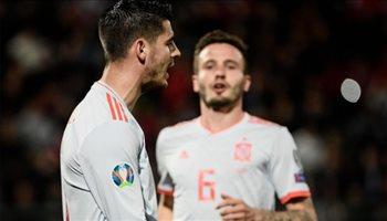 فيديو| في غياب إنريكي.. إسبانيا تحقق ثاني انتصاراتها بتصفيات يورو 2020