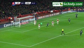 اهداف مباراة .. ارسنال 1 - 3 مانشستر يونايتد  ..كأس الإتحاد الإنجليزي