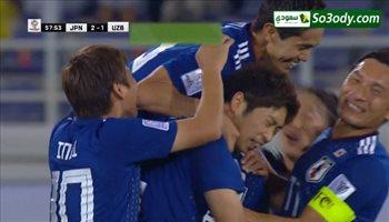 هدف ثاني لمنتخب اليابان في مرمي اوزباكستان .. كأس اسيا