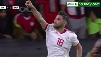 الهدف الاول لايران في مرمى عمان ..  كأس آسيا