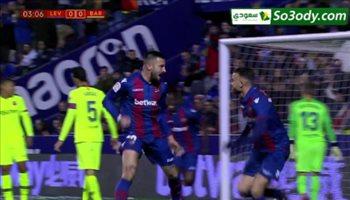 اهداف مباراة .. ليفانتي 2 - 1 برشلونة .. كاس اسبانيا