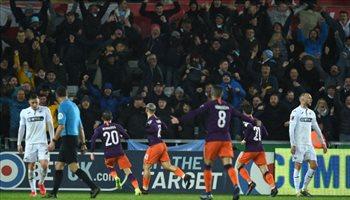 فيديو.. ريمونتادا مانشستر سيتي تقوده لنصف نهائي كأس الاتحاد على حساب سوانسي