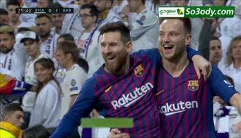اهداف مباراة ..  ريال مدريد 0 - 1   برشلونة .. الدوري الإسباني