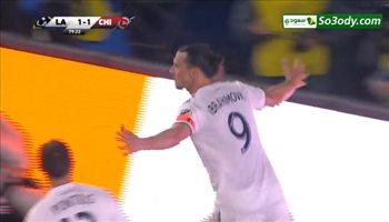 إبراهيموفيتش يسجل أول أهدافه في الدوري الأمريكي