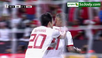 الهدف الثاني لايران في مرمى عمان ..  كأس آسيا