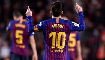 الدوري الإسباني| فيديو.. ثنائية ميسي وسواريز تحقق لبرشلونة فوز سهل على إيبار