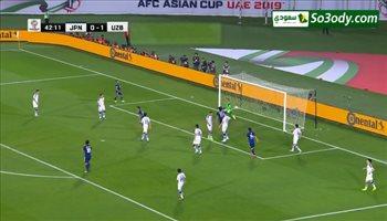 أهداف الشوط الاول .. اوزباكستان 1 - 1 اليابان .. كأس اسيا