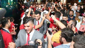 كأس آسيا  منتخب سوريا يصل الإمارات .. استقبال أسطوري للسومة