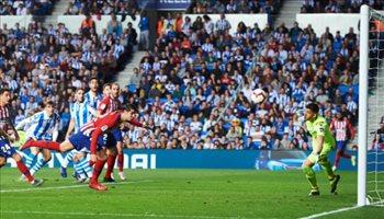 فيديو| تألق موراتا يستمر.. ثنائية تقود أتليتكو مدريد للفوز على ريال سوسييداد
