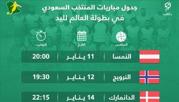 تعرف على مواعيد مباريات الأخضر في كأس العالم لكرة اليد