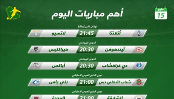 مباريات اليوم| نهائي كأس إيطاليا ومباريات هامة بالدوري الإماراتي والهولندي