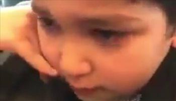 ردة فعل طفل أردني بعد خسارة النشامى