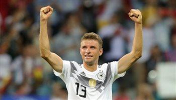 """دوري الأمم الأوروبية  مولر يدخل """"نادي المائة"""".. ورقم صادم لألمانيا"""